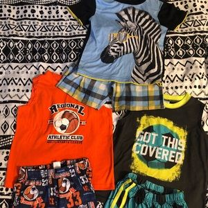 3 pairs of boys pjs size 5/6
